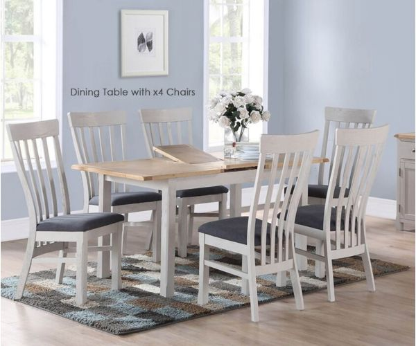 Annaghmore Kilmore Painted Extension Dining Table With 4 Chairs