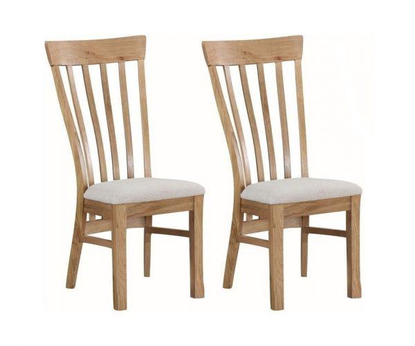 Annaghmore Kilmore Oak Dining Chair in Pair