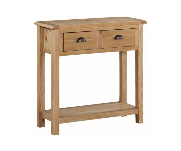 Annaghmore Kilmore Oak Large Hall Table with 2 Drawers