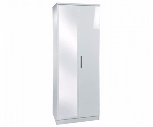Welcome Furniture Knightsbridge Tall 2ft6in Mirror Wardrobe