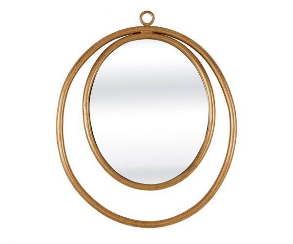 Serene Furnishings Kolkata Gold Oval Wall Mirror