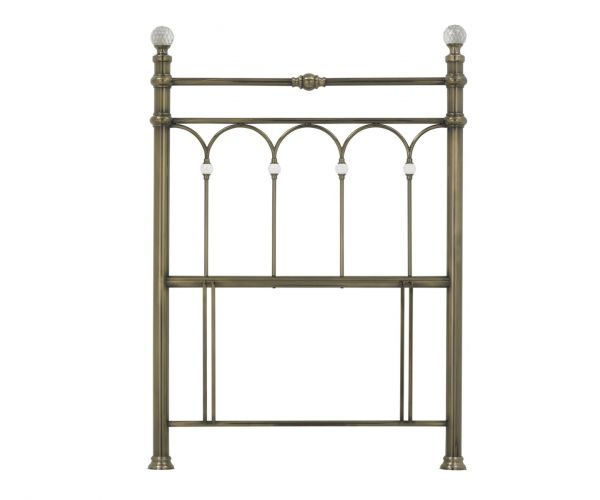 Bentley Designs Krystal Antique Brass Metal Headboard