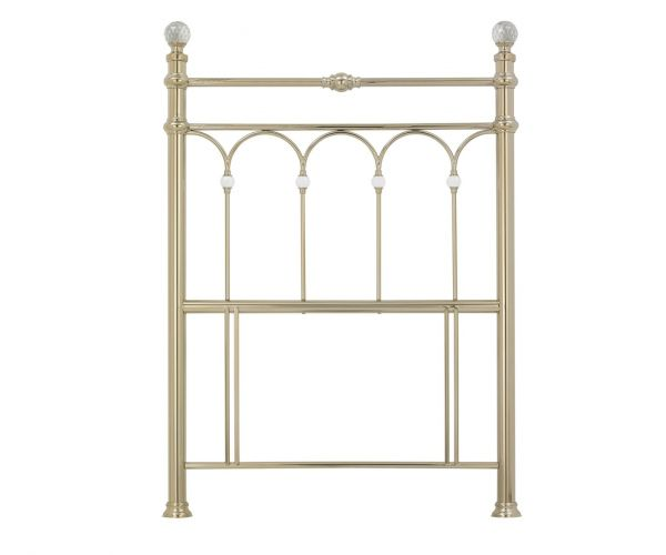 Bentley Designs Krystal Champagne Brass Metal Headboard