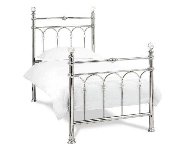 Bentley Designs Krystal Shiny Nickel Metal Bed Frame