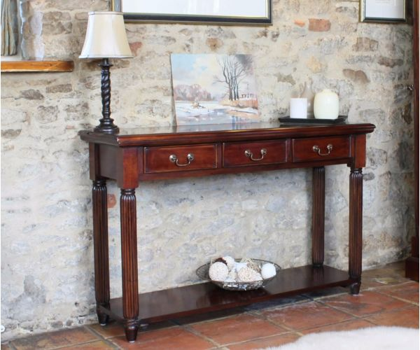 Baumhaus La Roque Mahogany Console Table with Drawers