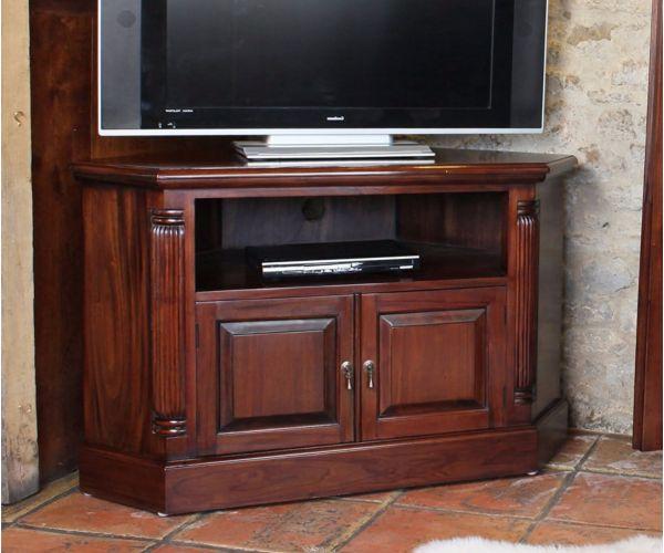 Baumhaus La Roque Mahogany Corner Television Cabinet