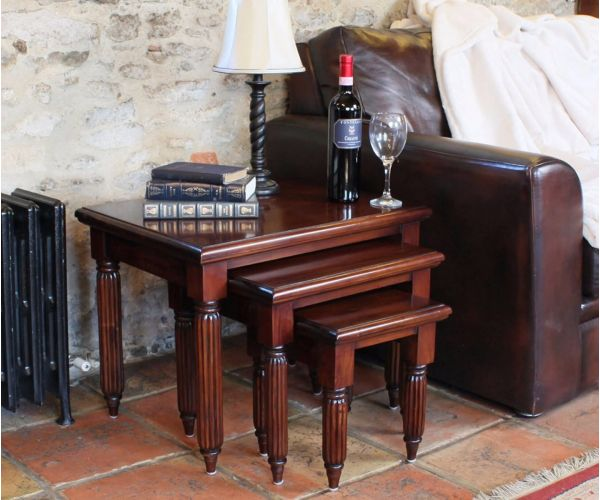 Baumhaus La Roque Mahogany Nest Of Coffee Tables