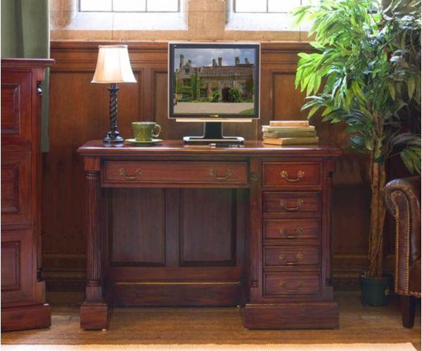 Baumhaus La Roque Mahogany Single Pedestal Computer Desk