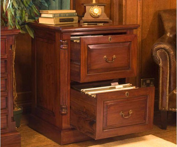 Baumhaus La Roque Mahogany 2 Drawer Filing Cabinet