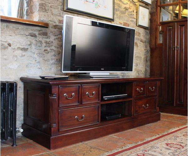 Baumhaus La Roque Mahogany Widescreen Television Cabinet