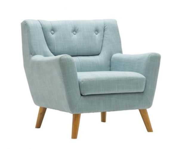 Birlea Furniture Lambeth Duck Egg Blue Fabric Chair