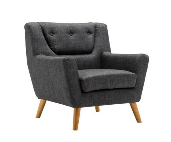 Birlea Furniture Lambeth Grey Fabric Chair