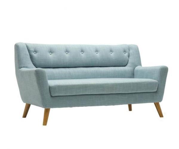Birlea Furniture Lambeth Duck Egg Blue Fabric Large Sofa