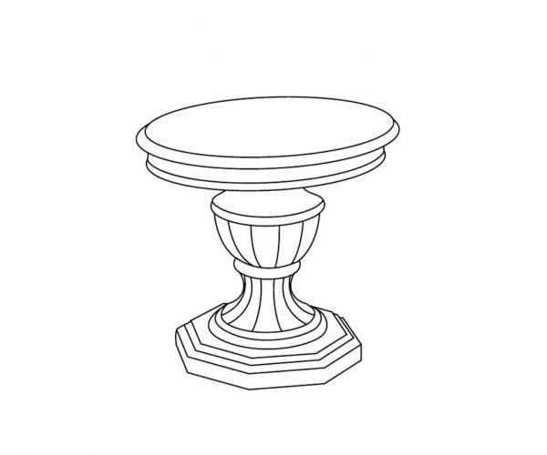 Tuttomobili Greta White Finish Lamp Table