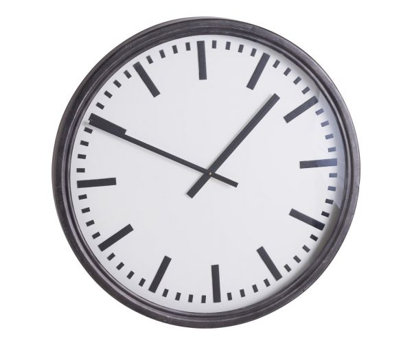 Large Black Station Clock
