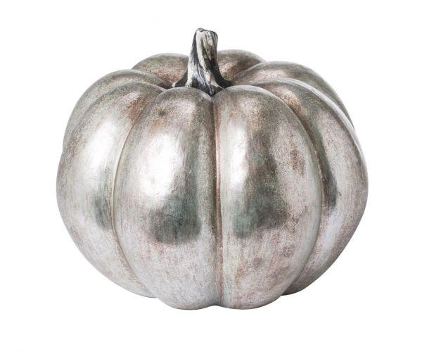 Large Silver Foil Pumpkin