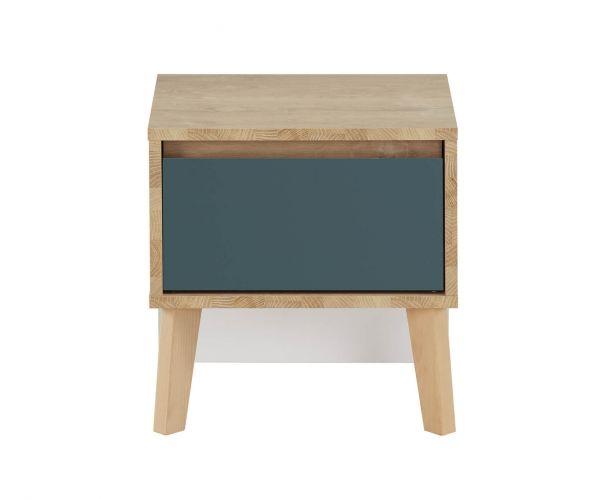 Gami Larvik Blue 1 Drawer Bedside Table