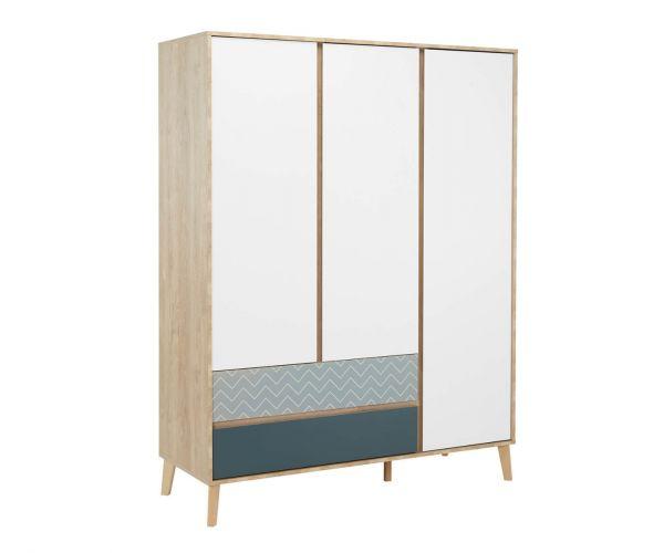 Gami Larvik 3 Door 2 Drawer Wardrobe