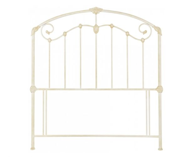 Bentley Designs Lauren Antique Ivory Metal Headboard- King Size 150cm