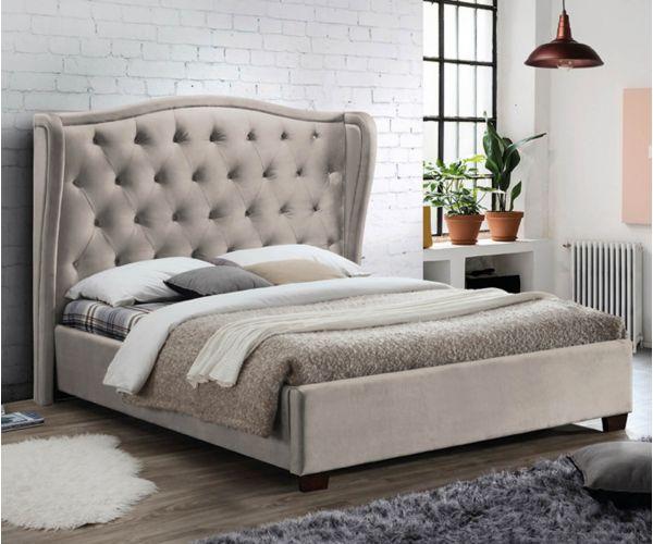Furniture Link Lauren Champagne Fabric Bed Frame