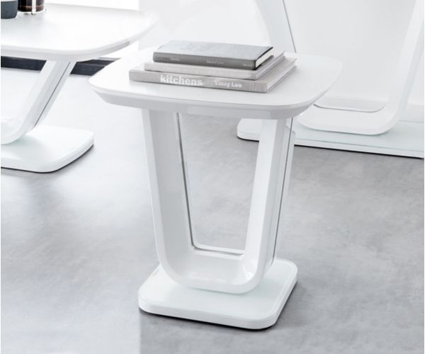 Vida Living Lazzaro White Lamp Table