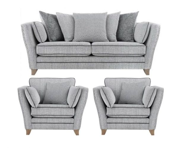 Lebus Athena Fabric 3+1+1 Sofa Set