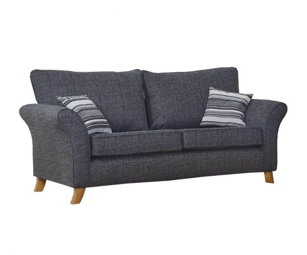 Lebus Candy High Back Fabric 3 Seater Sofa