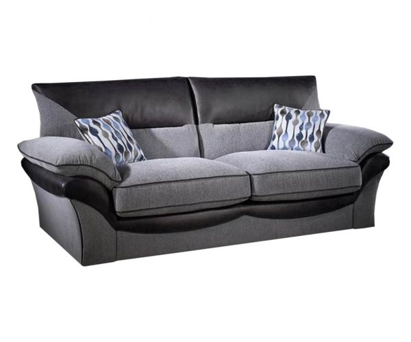 Lebus Chloe High Back Fabric 3 Seater Sofa
