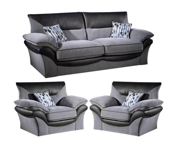 Lebus Chloe High Back Fabric 3+1+1 Sofa Set