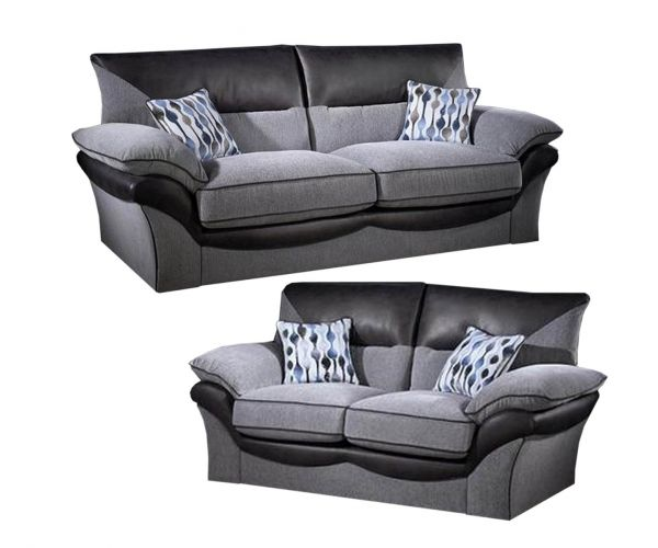 Lebus Chloe High Back Fabric 3+2 Sofa Set