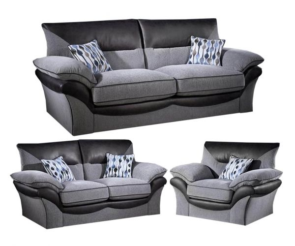 Lebus Chloe High Back Fabric 3+2+1 Sofa Set