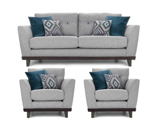 Lebus Dakota High Back Fabric 3+1+1 Sofa Set
