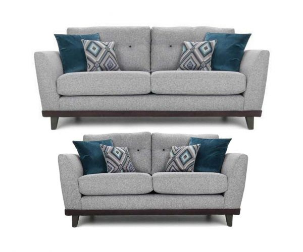 Lebus Dakota High Back Fabric 3+2 Sofa Set