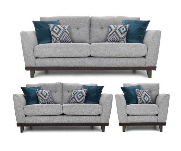 Lebus Dakota High Back Fabric 3+2+1 Sofa Set
