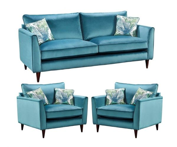 Lebus Pasha High Back Fabric 3+1+1 Sofa Set