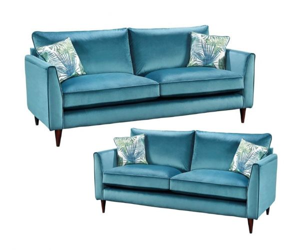 Lebus Pasha High Back Fabric 3+2 Sofa Set