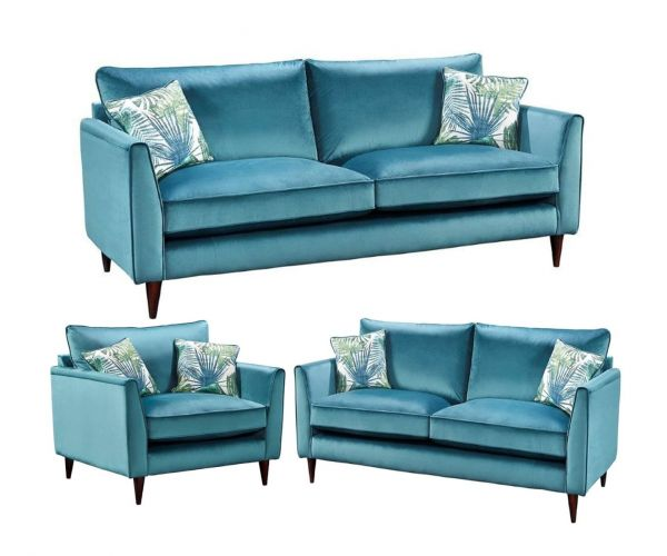 Lebus Pasha High Back Fabric 3+2+1 Sofa Set