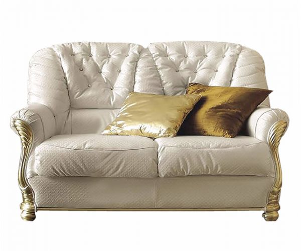 Camel Group Leonardo White Leather 2 Seater Sofa Bed
