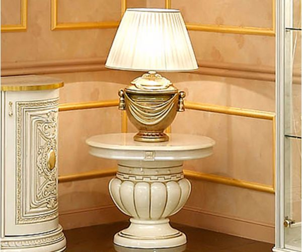 Camel Group Leonardo Ivory and Gold Finish Lamp Table