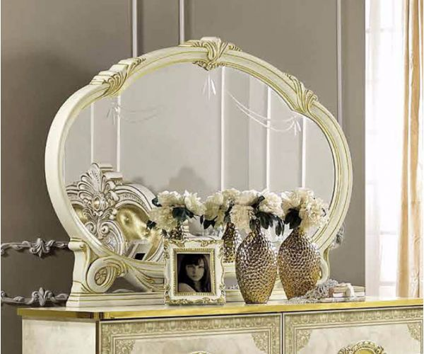 Camel Group Leonardo Ivory and Gold Finish Large Mirror