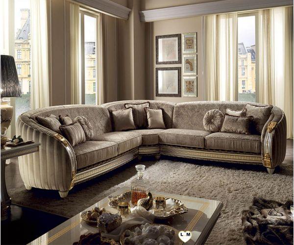 Arredoclassic Liberty Italian Corner Sofa Set