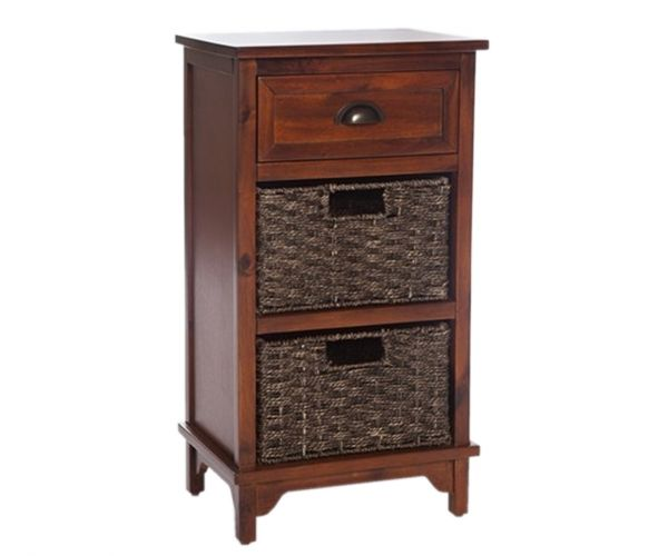Furniture Link Libra Dark 3 Drawer Chest