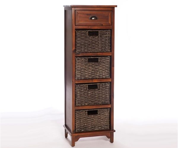Furniture Link Libra Dark 5 Drawer Chest