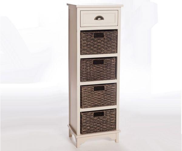 Furniture Link Libra White 5 Drawer Chest