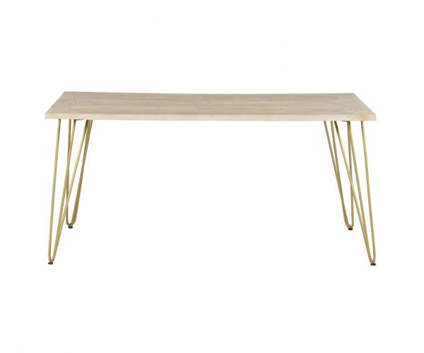 Indian Hub Light Gold Dining Table Only