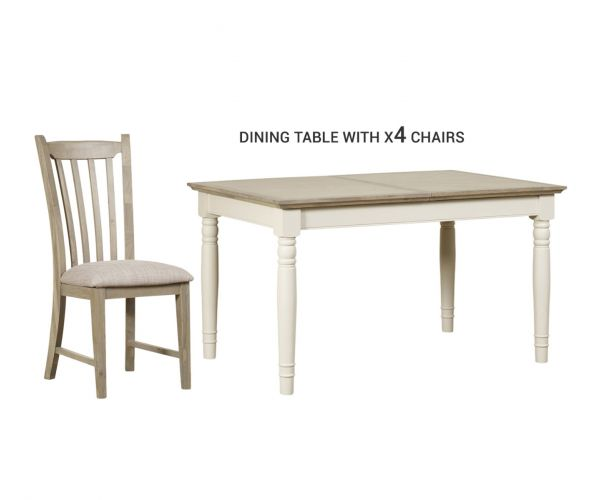 Mark Webster Lily Extending Dining Table with 4 Chairs