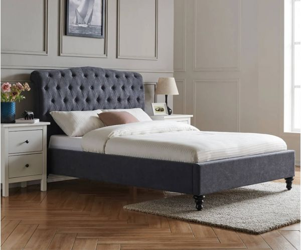 Limelight Rosa Dark Grey Fabric Bed Frame