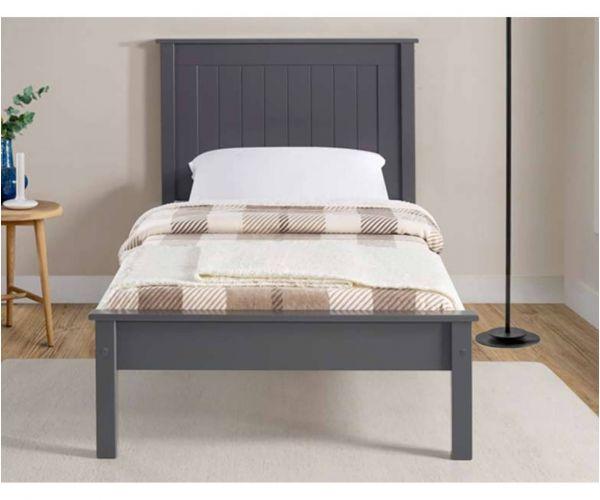 Limelight Taurus Dark Grey Wooden Low Footend Bed Frame