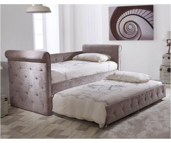 Limelight Zodiac Mink Fabric Day Bed with Trundle Guest Bed