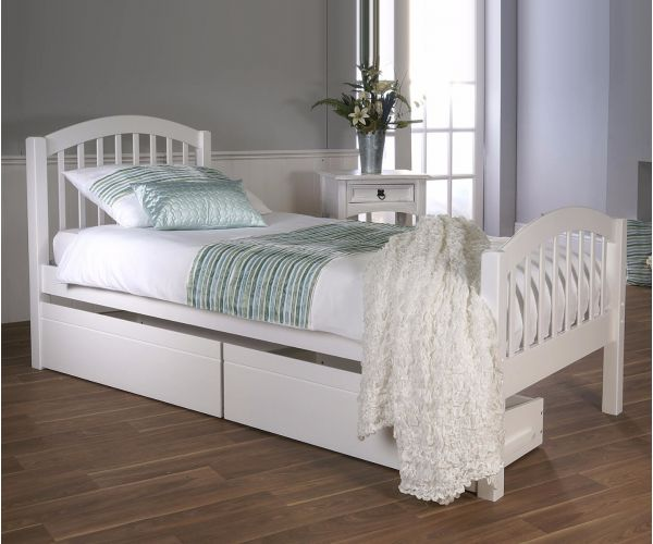 Limelight Despina White Wooden Bed Frame